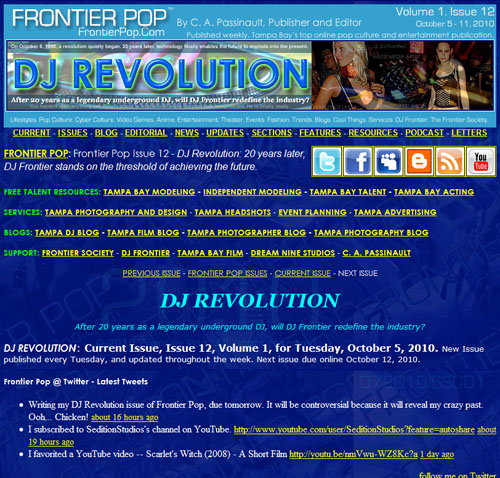Frontier Pop Issue 12: DJ Revolution.