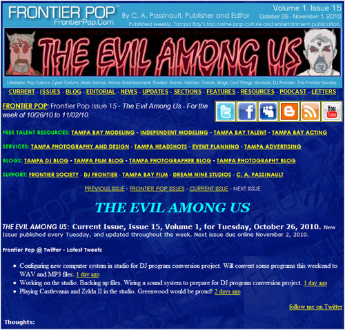 Frontier Pop Issue 15: The Evil Among Us.