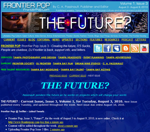 Frontier Pop Issue 3: The Future?