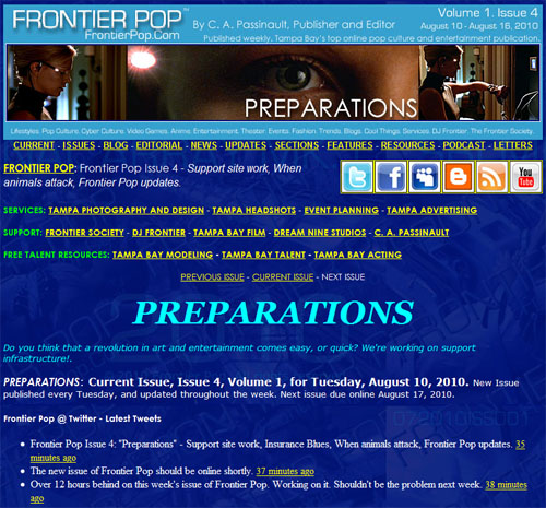 Frontier Pop Issue 4: Preparations