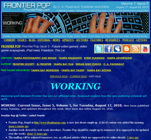 Frontier Pop Issue 5: Working