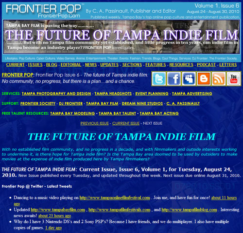 Frontier Pop Issue 6: The Future Of Tampa Indie Film