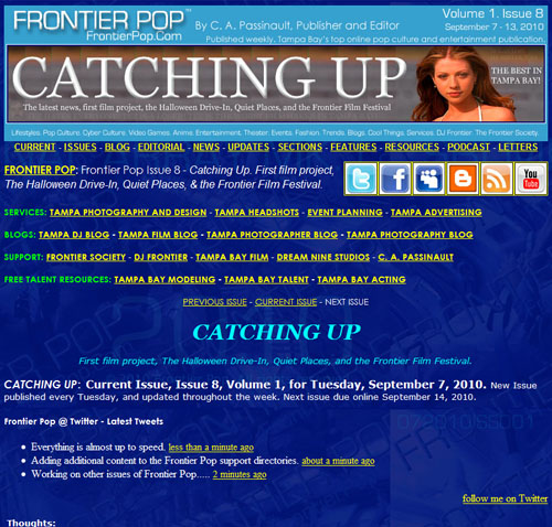 Frontier Pop Issue 8: Catching Up.