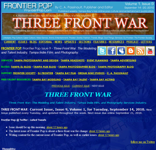 Frontier Pop Issue 9: Three Front War